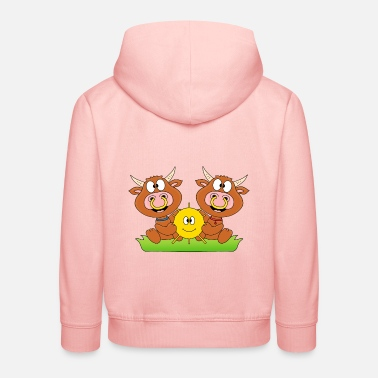 Funny Cows - cattle - let the sun into your heart - Kids' Premium Hoodie
