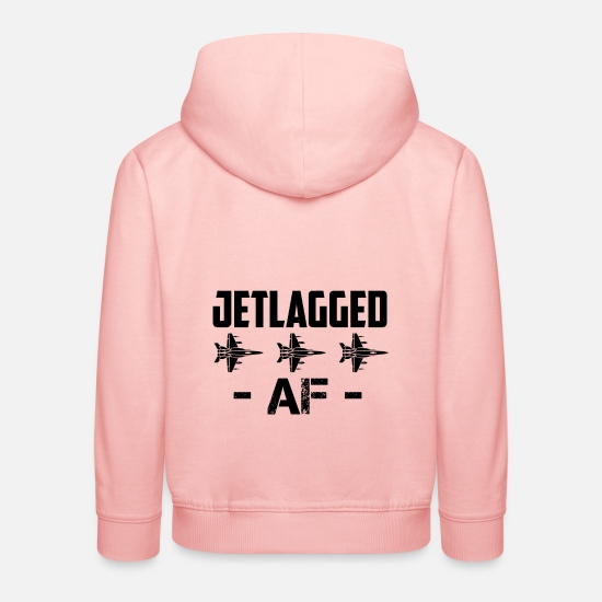 Pilot Pullover & Hoodies - Jet Lag AF Jet Fighter Pilot Air Force Aviator - Kinder Premium Hoodie Kristallrosa