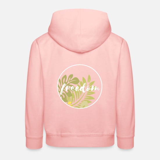 Travel Hoodies & Sweatshirts - Freedom freedom - Kids' Premium Hoodie crystal pink