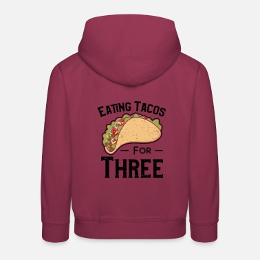 Eating Tacos For Three - TacosMexican food - Kids' Premium Hoodie