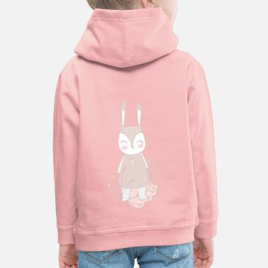 Animal lapin | lapin - Sweat à capuche premium Enfant