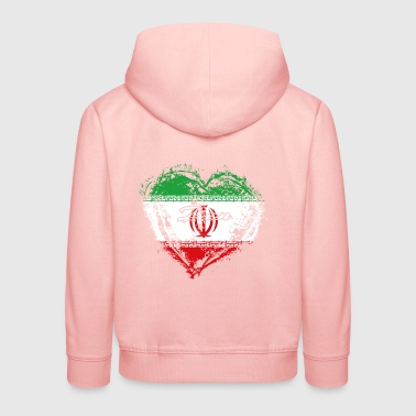 HOME ROOTS COUNTRY GIFT LOVE Iran - Kinder Premium Hoodie
