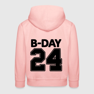 24 number number for the 24th birthday football jersey - Kids' Premium Hoodie