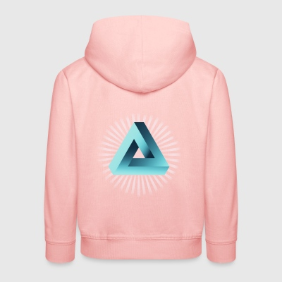illusion illuminati triangle pyramid nerd math - Kids' Premium Hoodie