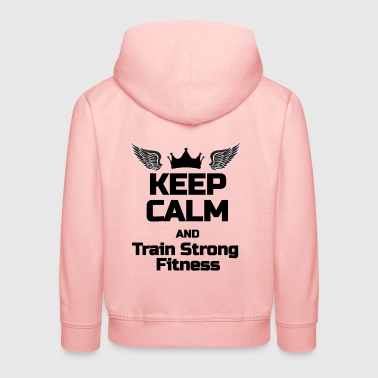 KEEP CALM Phrase For fitness lovers - Kids' Premium Hoodie