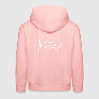 Horse 6 Hobby Heartbeat Gift - Kinder Premium Hoodie