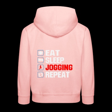 eat sleep jogging repeat - Kids' Premium Hoodie