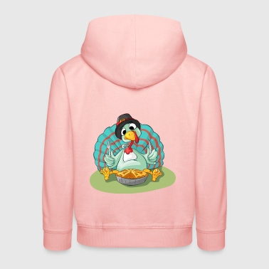 Truthahn - Turkey - Gobbler @ Thanksgiving - Kinder Premium Hoodie