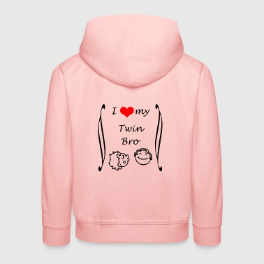 I love my Twin Brother - Kids' Premium Hoodie