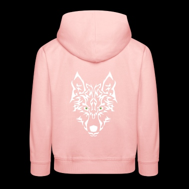 Wolf Power. Easy to personalise. - Kids' Premium Hoodie