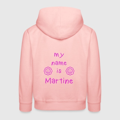 MARTINE MY NAME IS - Pull à capuche Premium Enfant