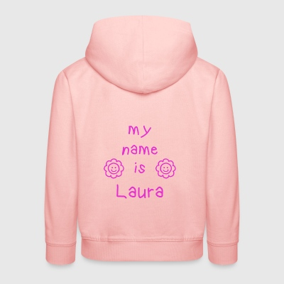 LAURA MY NAME IS - Pull à capuche Premium Enfant