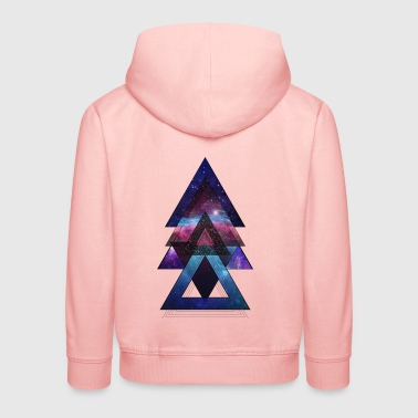 triangles univers - Pull à capuche Premium Enfant