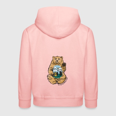 Happy belly bear - Kids' Premium Hoodie