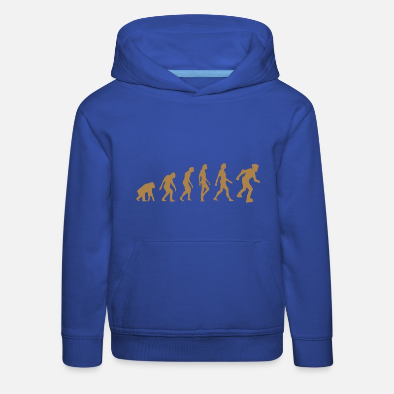 Roller Sweat-shirts - évolution roller - Sweat à capuche premium Enfant bleu royal