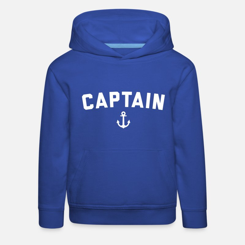 Boat Hoodies & Sweatshirts - Captain Nautical Quote  - Kids' Premium Hoodie royal blue