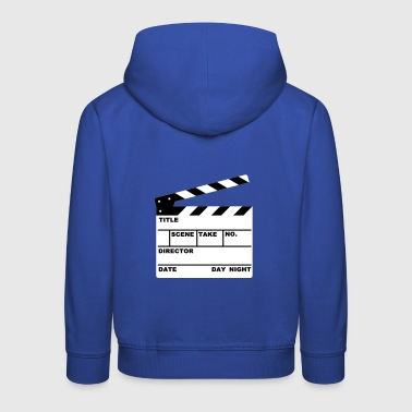 clapperboard (writable flex) - Kids' Premium Hoodie