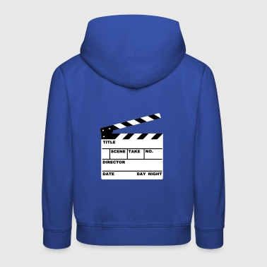 Klappe - clapperboard (writable flex) - Kinder Premium Hoodie