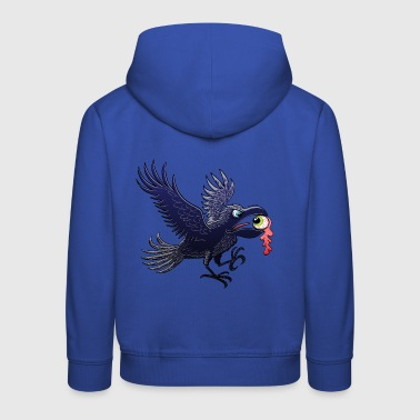 Crow Stealing an Eye - Kids' Premium Hoodie