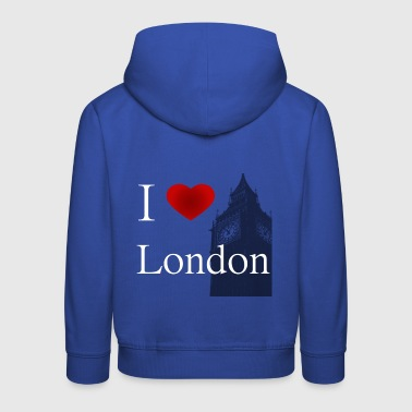 I Love London i love london white letters - Kids' Premium Hoodie