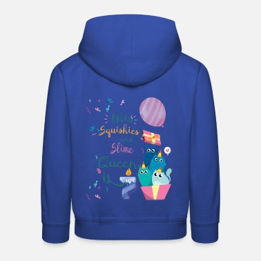 Slime Squishies And Slimes 7th Birthday Celebration Gifts - Kids' Premium Hoodie