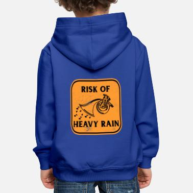 Funny French Horn Heavy Rain Instrument Orchestra - Kids' Premium Hoodie