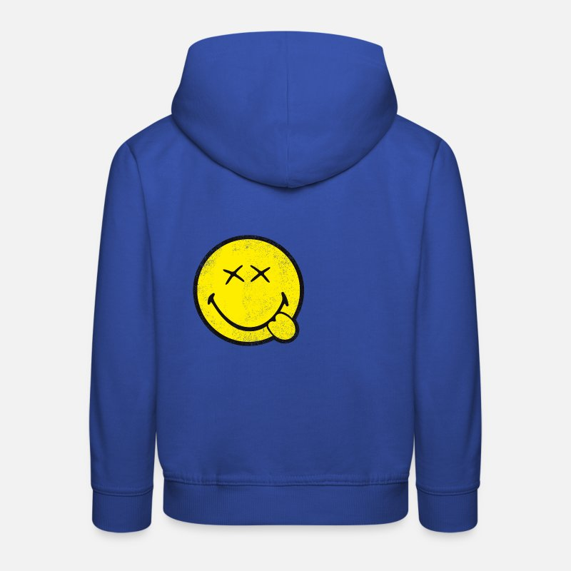 Officialbrands Hoodies & Sweatshirts - SmileyWorld Classic Smiley - Kids' Premium Hoodie royal blue