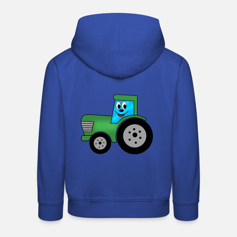 Kids Hoodies & Sweatshirts - merry kid tractor, tractor, farmer - Kids' Premium Hoodie royal blue