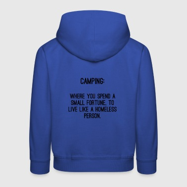 Homeless Camp - Kids' Premium Hoodie