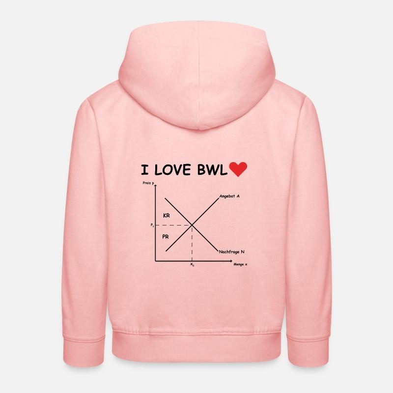 I Love Bwl Angebot Und Nachfrage Kinder Premium Hoodie Spreadshirt