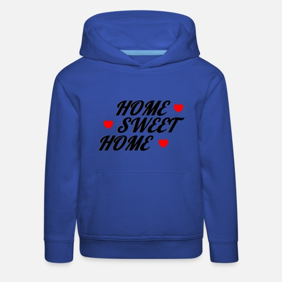 Maison Sweat-shirts - énonciation drôle - Sweat à capuche premium Enfant bleu royal