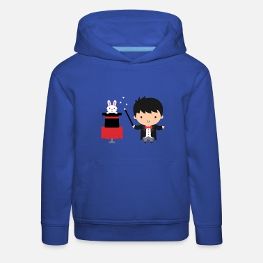 Perform Magic Cute Magician Boy Performing Magic Trick - Kids' Premium Hoodie