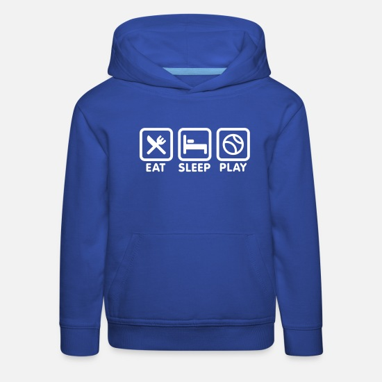 Play Hoodies & Sweatshirts - Eat Sleep Play baseball / softball - Kids' Premium Hoodie royal blue
