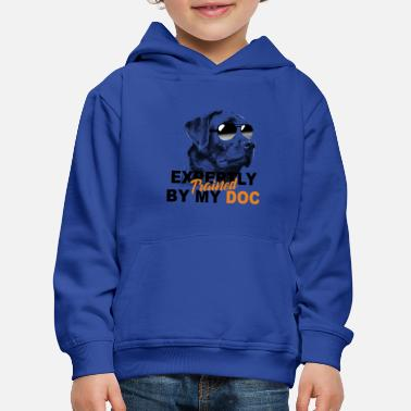 Train Trained expertly by my dog - Kids' Premium Hoodie