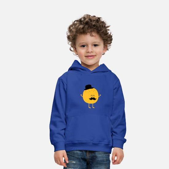 Cases - Backup Sweat-shirts -  Funny Orange with Mustache - Sweat à capuche premium Enfant bleu royal