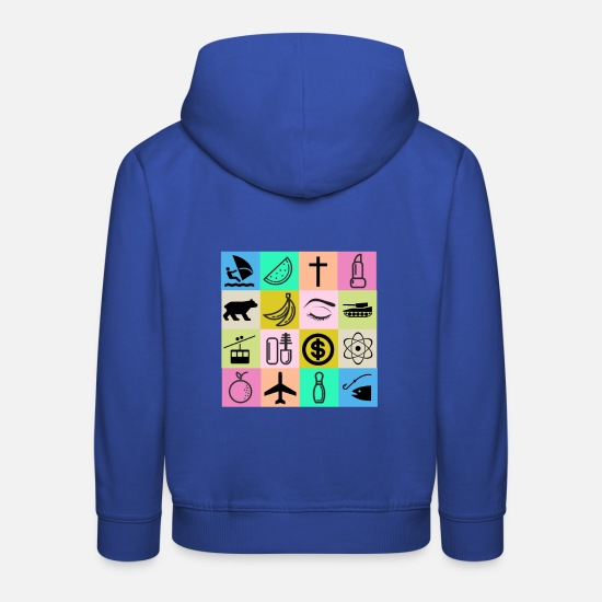 Proverbes Sweat-shirts - Symbole abstrait massacre de Nice - Sweat à capuche premium Enfant bleu royal