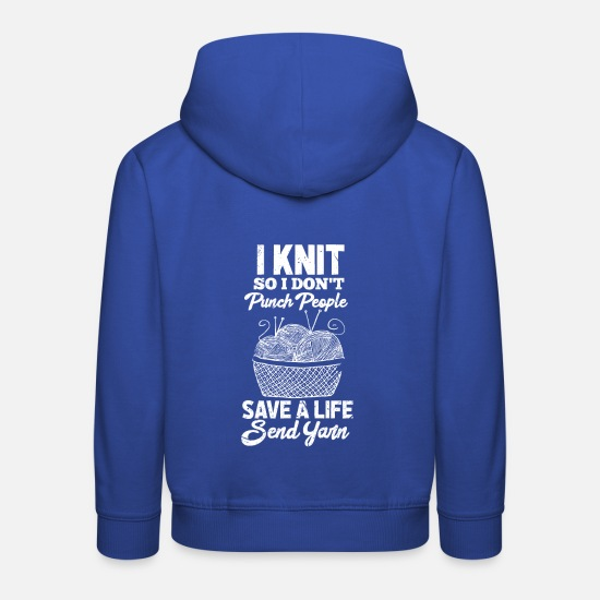 Stricken Pullover & Hoodies - Stricken - Kinder Premium Hoodie Royalblau