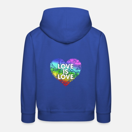 Bisexual Hoodies & Sweatshirts - Love Is Love Ny - Kids' Premium Hoodie royal blue