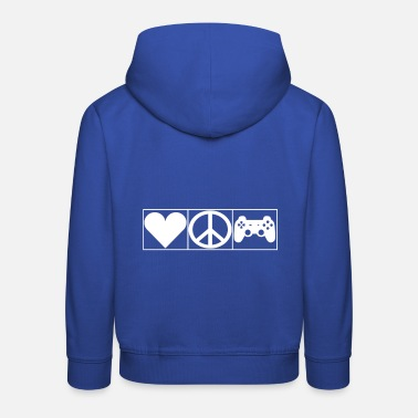 Leible Love, Peace and Gaming - Leibl Designs - Kids' Premium Hoodie