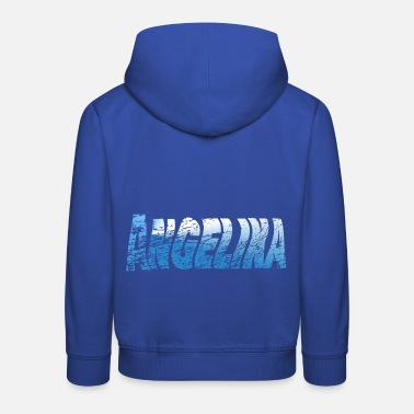 Hello My Name Is Hello my name is Angelina - Kids' Premium Hoodie