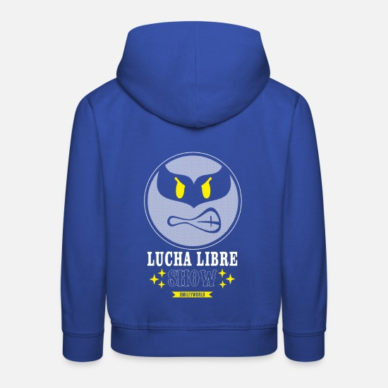 Emoji Hoodies & Sweatshirts - SmileyWorld Purple Luchador - Kids' Premium Hoodie royal blue