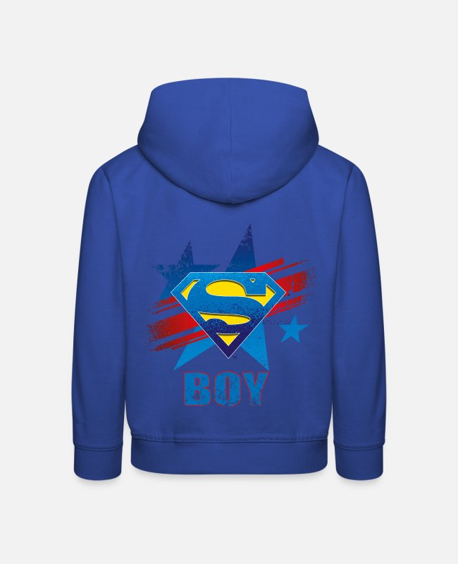 Movie Sweaters & hoodies - Superman S-Shield Boy Mannen T-Shirt - Kinderen premium hoodie koningsblauw
