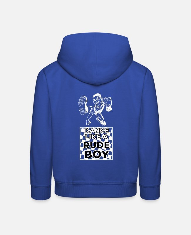 Ska Punk Hoodies & Sweatshirts - Dance like a Rude Boy Ska Beer Party Punk - Kids' Premium Hoodie royal blue