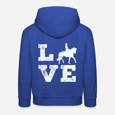 Love I love riding horses - Kids' Premium Hoodie