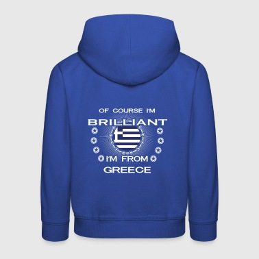 I AM GENIUS CLEVER BRILLIANT GREECE - Kinder Premium Hoodie