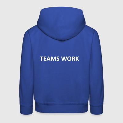teams work weiss - Kinder Premium Hoodie