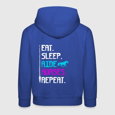 EAT SLEEP HORSE RIDE REPEAT - Pull à capuche Premium Enfant