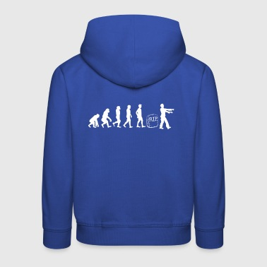 Zombie - Evolution - Gift - Funny - Undead - Kids' Premium Hoodie