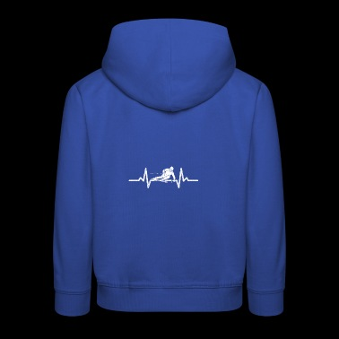 Heartbeat heartbeat with alpine skiing - Kids' Premium Hoodie