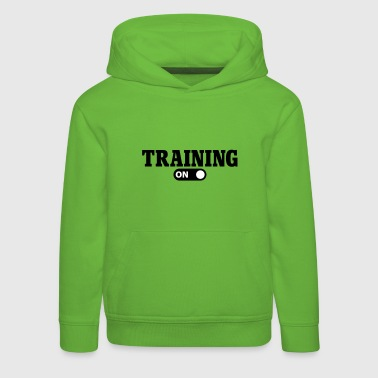 Training on - Pull à capuche Premium Enfant